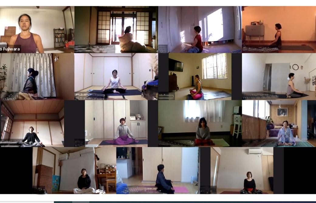 ヨーコ・フジワラの瞑想のシーン