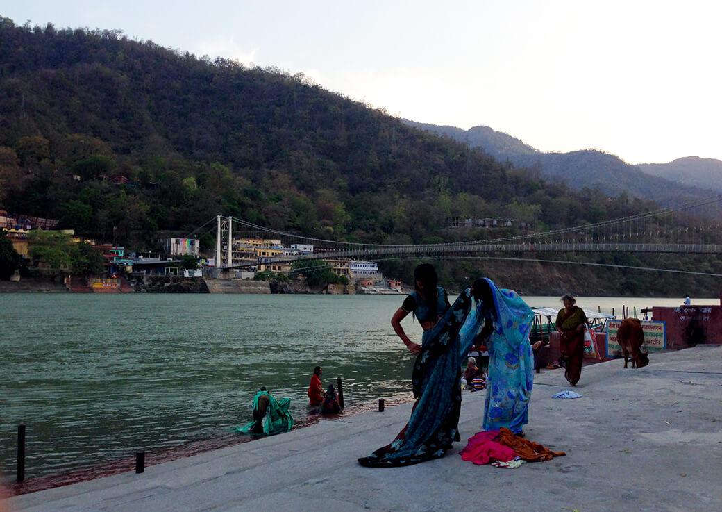 ガンジス川での沐浴