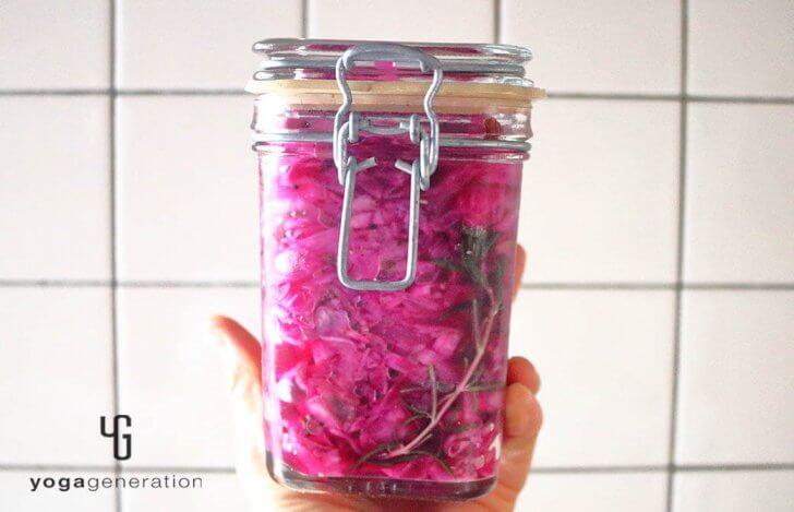 ハーブの香りで気分は世界旅行♪大根と紫キャベツのピクルス