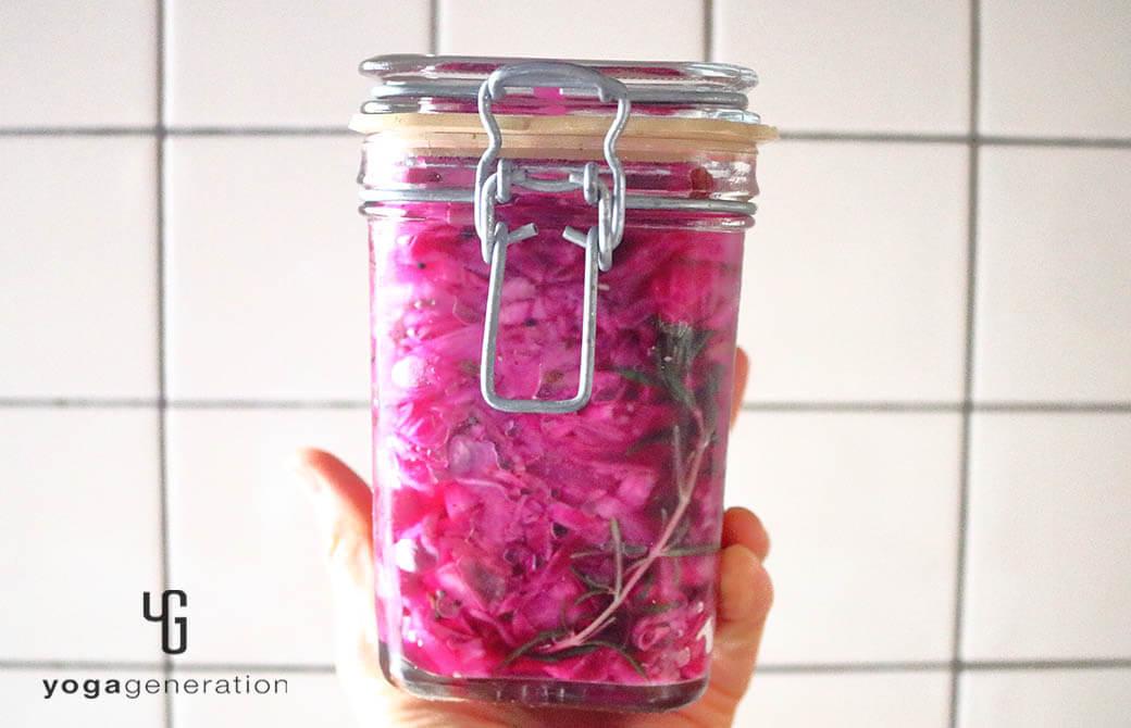 大根と紫キャベツのピクルスの漬け込み完了♪