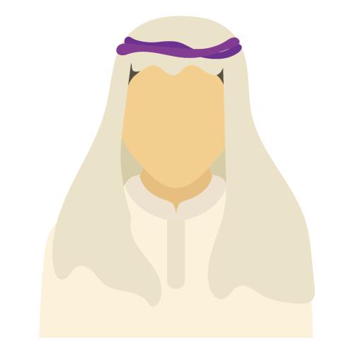 イスラム教男性イラスト