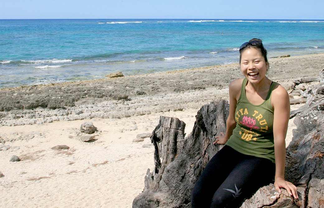 ヨガジェネレーションのハワイ取材の際、ヨーコ先生を撮った写真