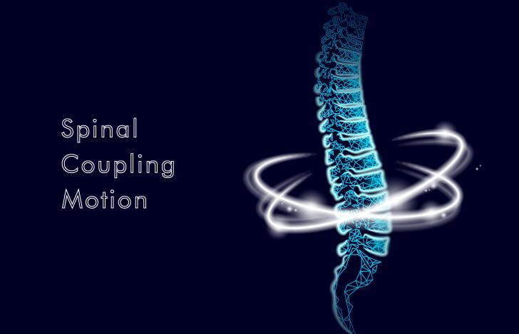 脊柱の動きをイメージさせるイラスト