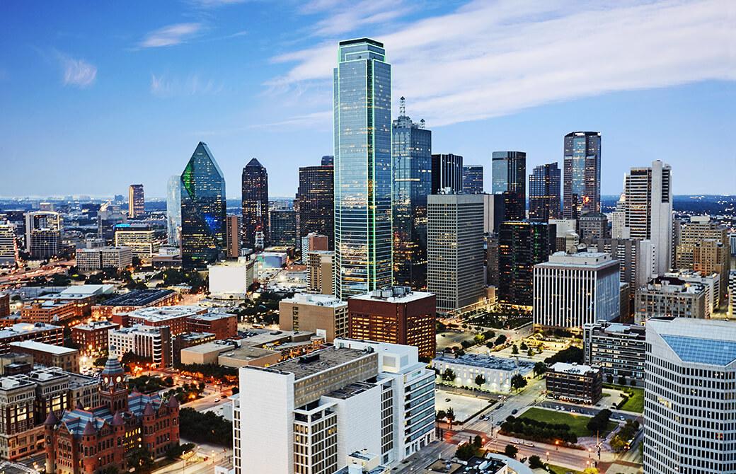 テキサス州ダラスの金融街