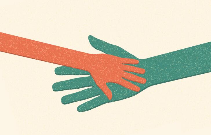 大人の手と子供の手