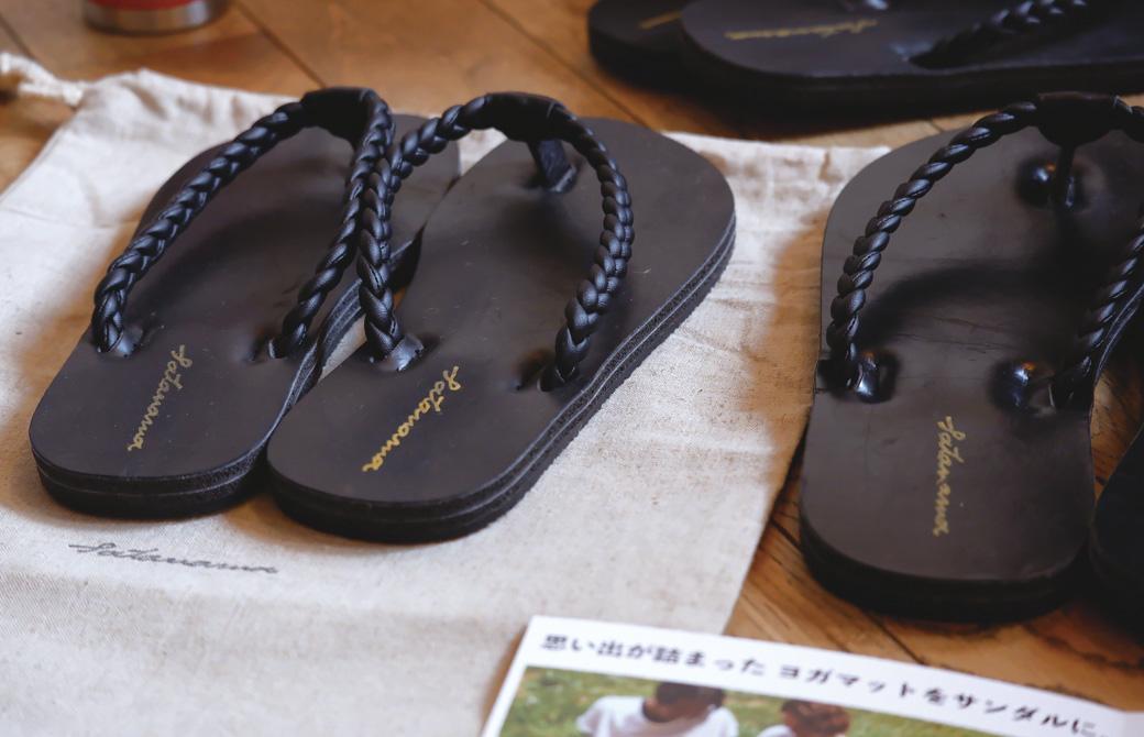 """satanama sandal""と、特製の巾着"