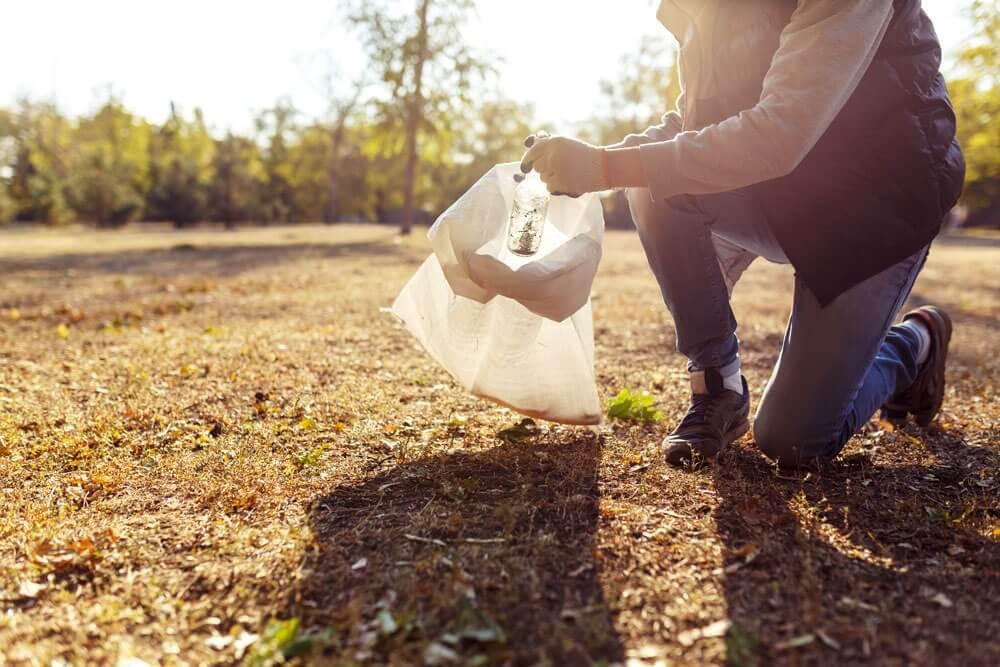 慈善活動として清掃をする