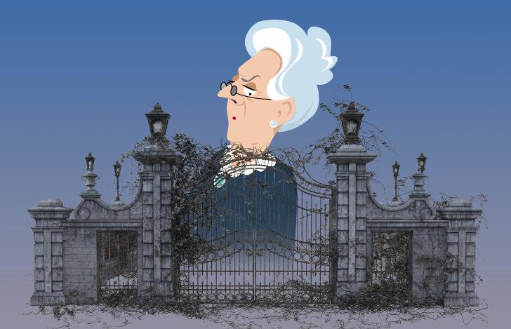 鉄の門と祖母のイメージ