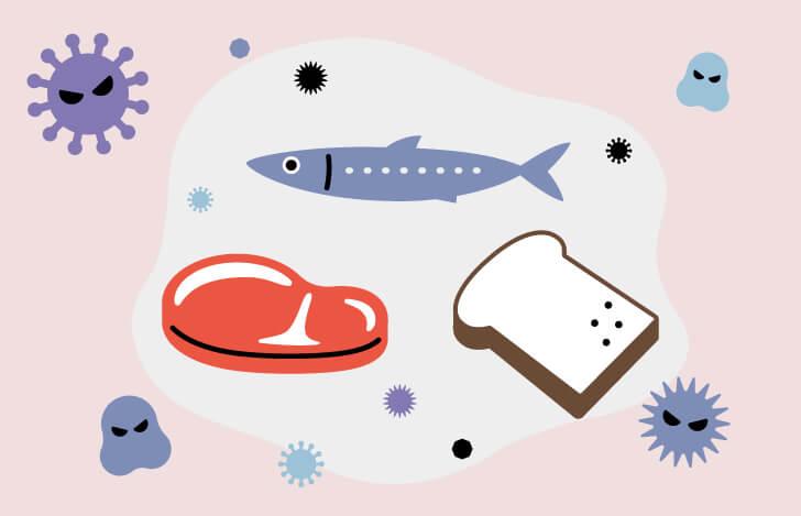 魚と肉とパンと細菌やウィルス