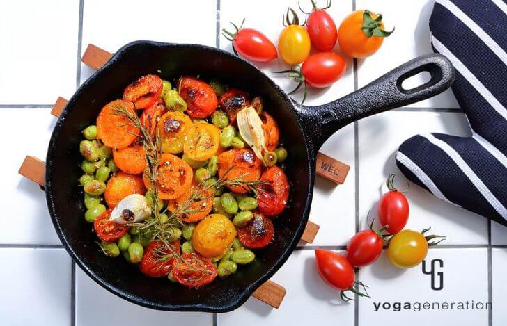 枝豆とトマトのローズマリーグリル