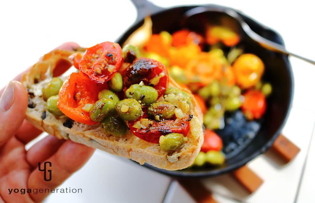 パンに載せてもOK!枝豆とトマトのローズマリーグリル