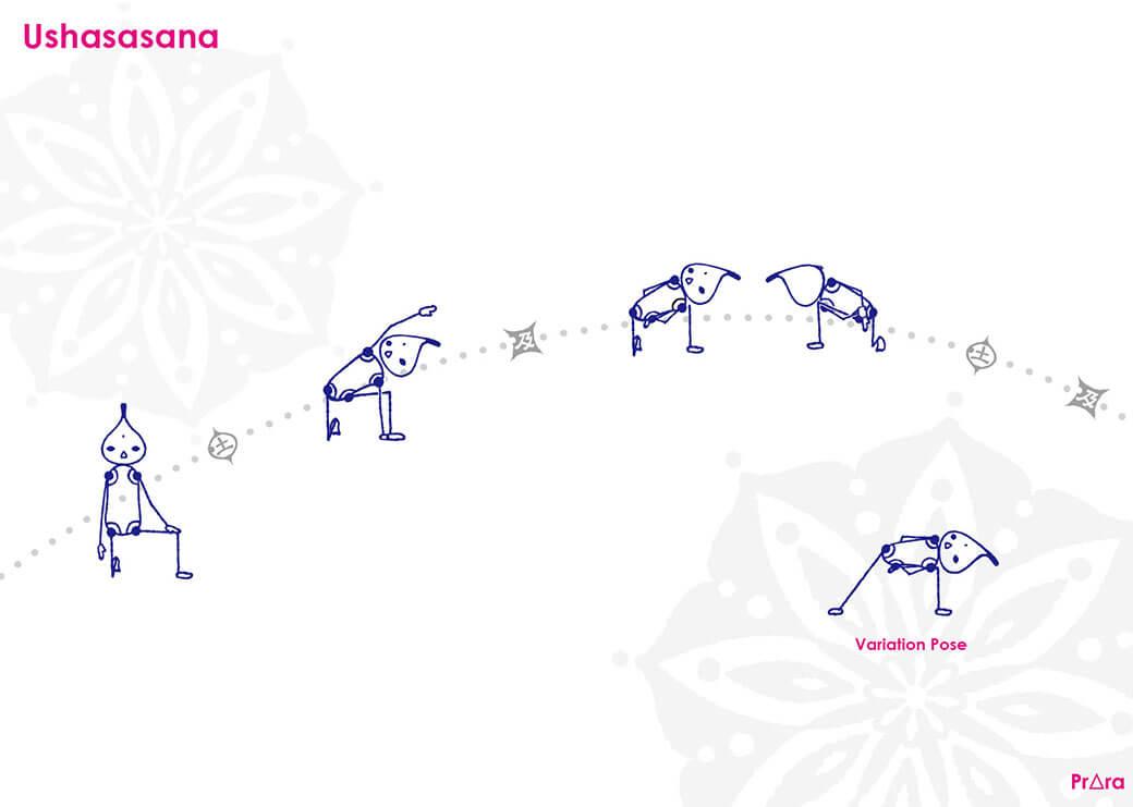ウシャスアーサナ|卍(まんじ)のポーズ