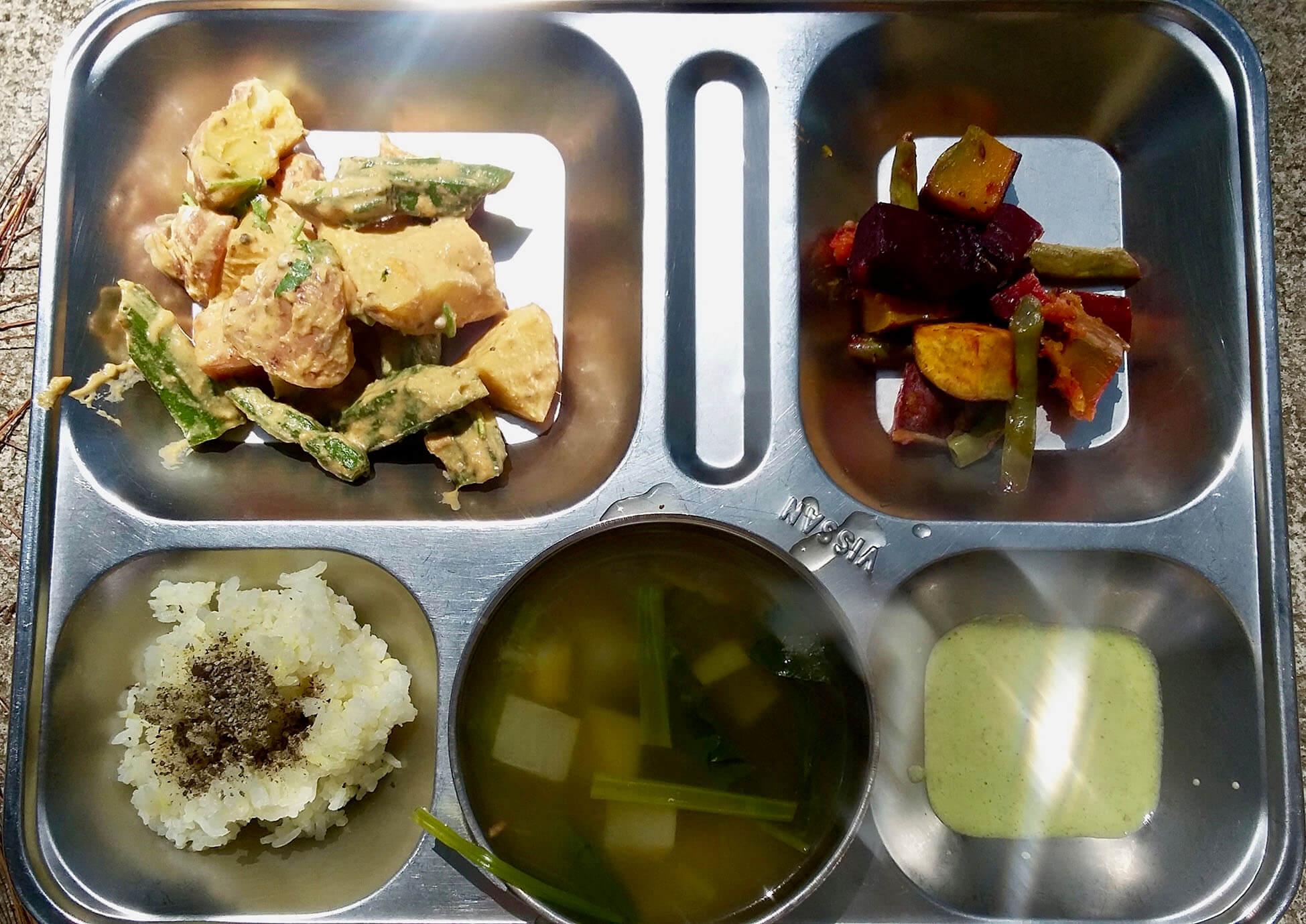 アシュラムのベジタリアン食