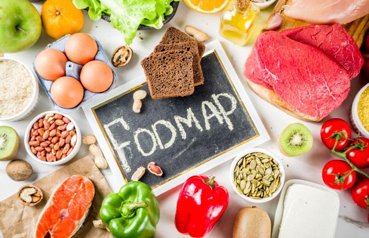 低FODMAP食品とブラックボード